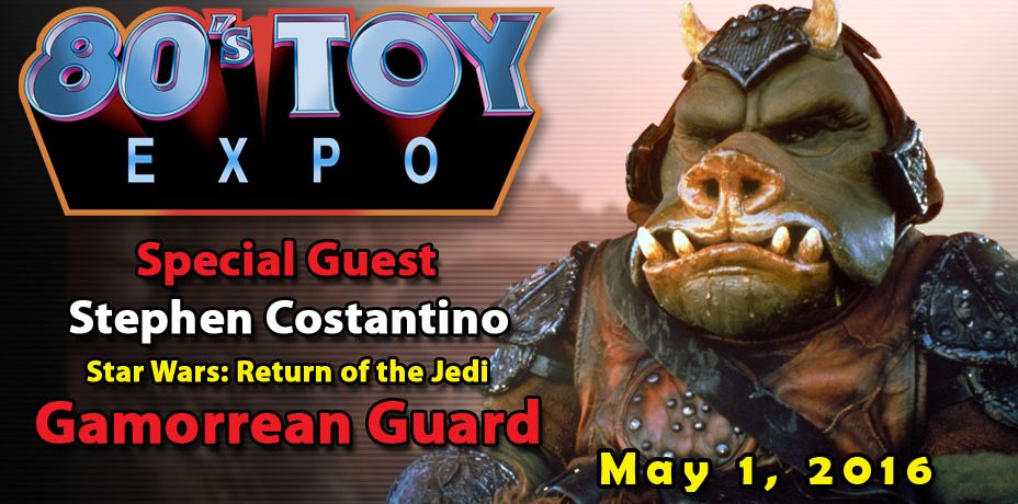 Stephen Costantino the Gamorrean Guard in Return of the Jedi at 80s Toy Expo