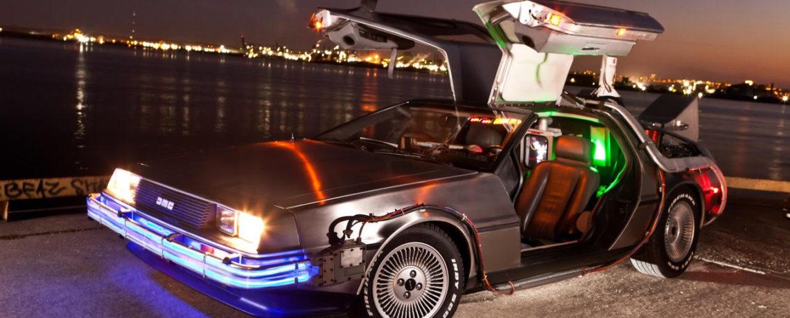 Back to the Future Delorean replica at 80s Toy Expo 2017