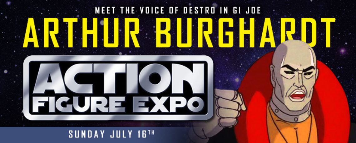 Arthur Burghardt the voice of Destro in GI Joe at Action Figure Expo 2017