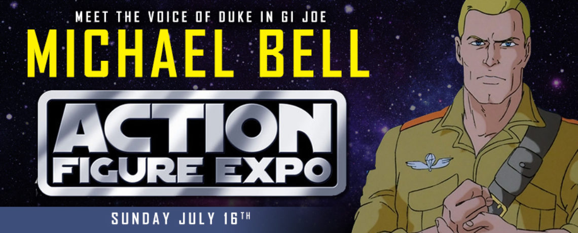 Michael Bell the voice of Duke in GI Joe at Action Figure Expo 2017