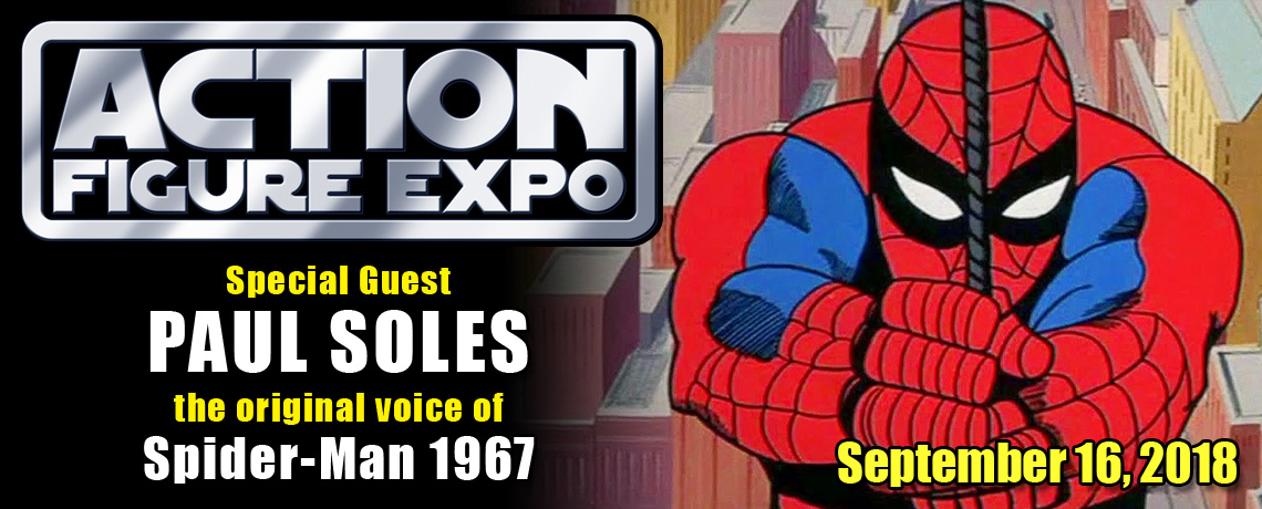 Original Spider-Man voice actor Paul Soles a guest at Action Figure Expo 2018