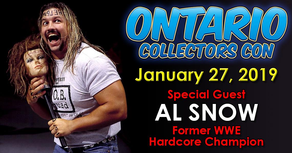 Meet WWF Hardcore Champion Al Snow at Ontario Collectors Con 2019