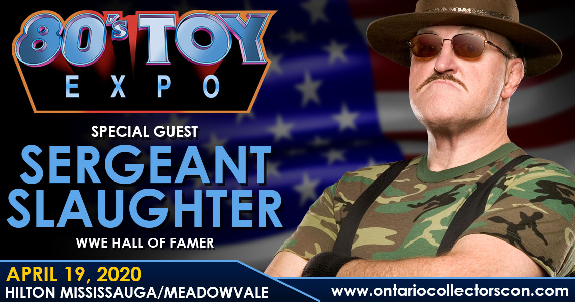 Meet WWE Hall of Famer Sgt. Slaughter at 80s Toy Expo 2020