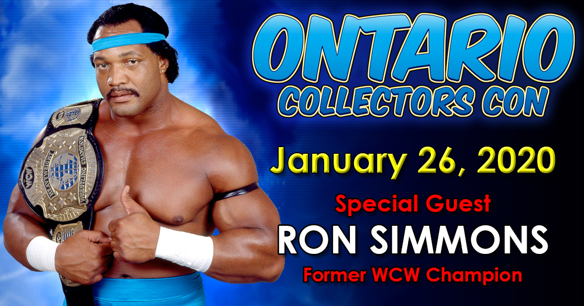 Meet WWE Hall of Famer Ron Simmons at Ontario Collectors Con 2020