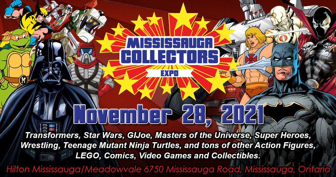 Mississauga Collectors Expo 2021 will be Sunday November 28